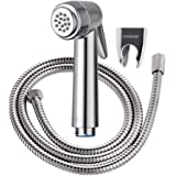 JOMOO Bathroom Handheld Bidet Shattaf Sprayer Premium Hand-Held Cloth Diaper Sprayer For Personal Hygiene Bidet Shower Head Sprayer Set With 304 Stainless Steel Hose and Holder Without T-Valve