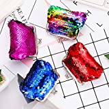 9 Pieces Sequin Coin Purses Reversible Sequins Mini Wallets Magic Flip Sequins Wallets Purses for Party Favors Gifts