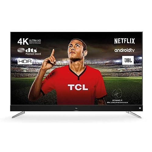 TCL U49C7006 Televisor 124 cm 49 pulgadas Smart TV 4K Android TV HDR 10 Triple Tuner Micro Dimming sonido de JBL de Harman Titanio Clase de eficiencia energética A
