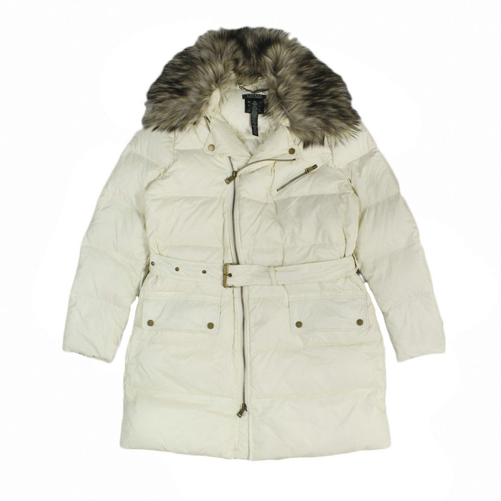 b50a6beec19 Amazon.com: Lauren Ralph Lauren Women's Faux Fur Trim Quilted Jacket ...