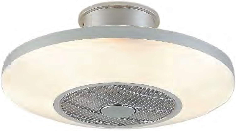Ventilador de techo con LED VIENA color plateado con mando a ...