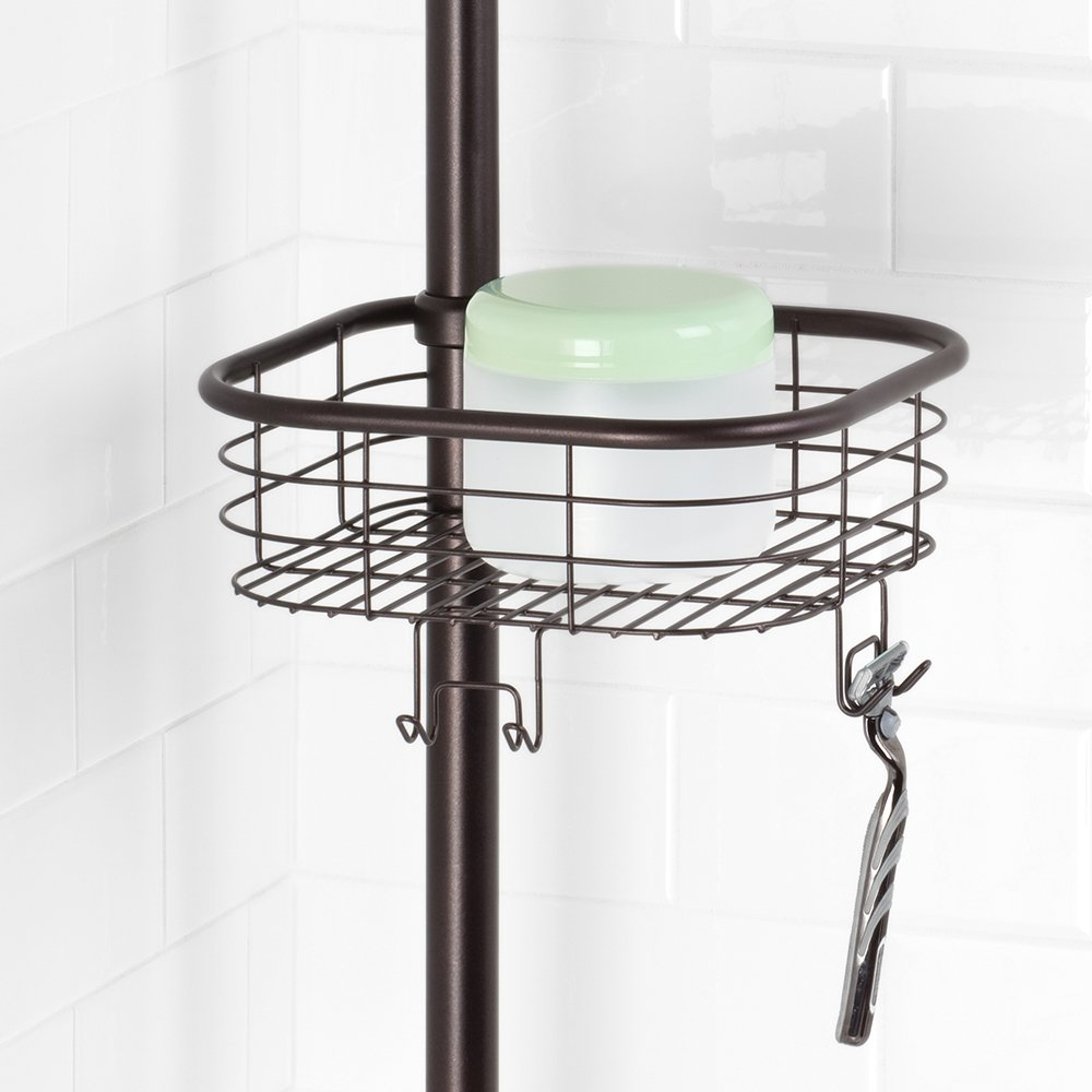 InterDesign Forma Constant Tension Shower Caddy – Square Bathroom Storage Shelves for Shampoo, Conditioner and Soap, Bronze by InterDesign (Image #6)