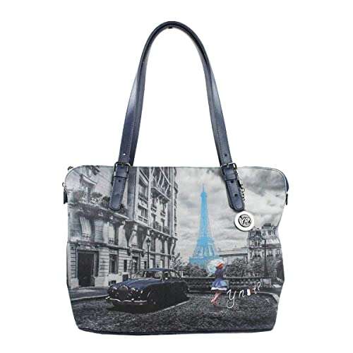 YNOT BORSA DONNA SHOPPING BAG M TRASFORMABILE BLUE RAIN K-377  Amazon.it  Scarpe  e borse 73c729c32cc