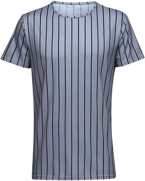 Waotier Camiseta De Manga Corta para Hombre Camiseta con Cuello ...