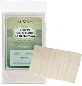 Cheesecloth ?Grade 90??18 Sq Feet?,100% Cotton Reusable Produce Bags[Unbleached],Nut Milk Bag,Cheesecloth Strainer Bag,Pressing Cloth[Food Grade] (1)