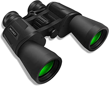 SkyGenius 10 x 50 Powerful Binoculars for Adults, Durable Full-Size Clear Binoculars for Bird Watching Travel Sightseeing Hunting Wildlife Watching Outdoor Sports Games and Concerts