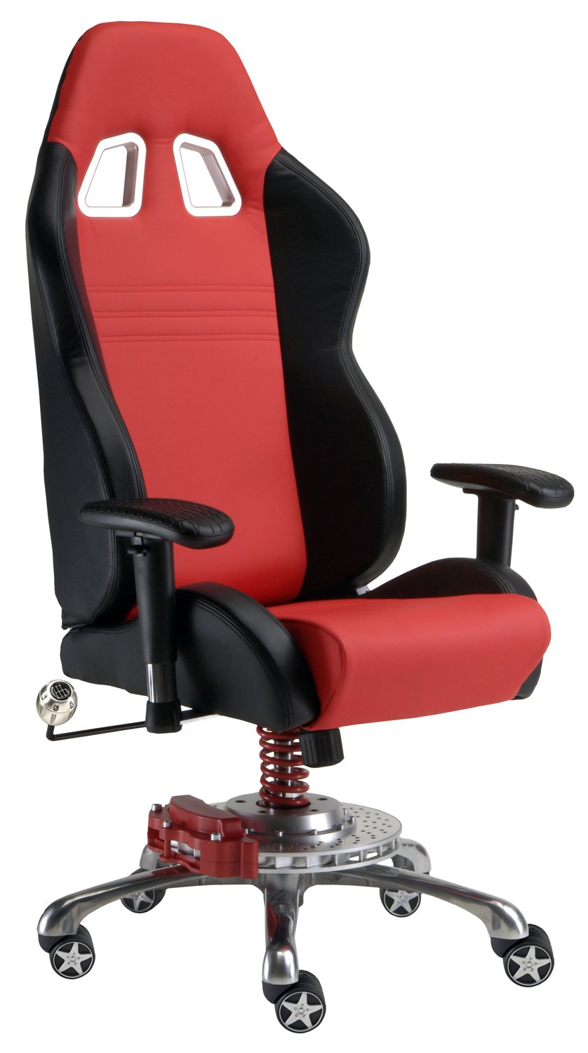 Amazoncom Pitstop Furniture GP1000R Red GT Office Chair Automotive