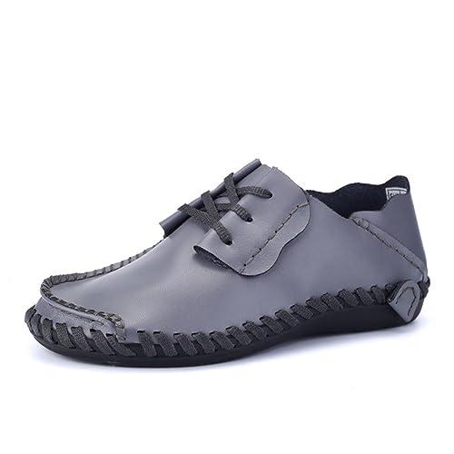 Mocasines Hombre Zapatos de Cordones Verano Classic Artesanal Viajar PU-Cuero Trabajo Antideslizantes: Amazon.es: Zapatos y complementos
