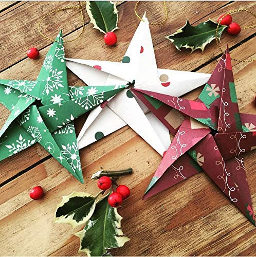 Paper Decorative Ornaments - Christmas Hanging Stars,...