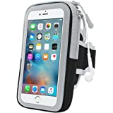 GIMart スポーツアームバンド ランニングアームバンドケース 防汗 柔軟超薄型クリアスクリーン イヤホーンコード固定 カード入れ付 調節可能 iPhone6/6s/6 plus、iPhone7/7 Xperiaなどに対応