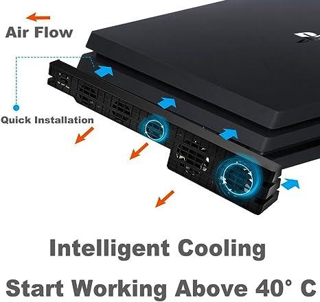 MPTECK - Súper externa ventilador de refrigeración para Sony ...