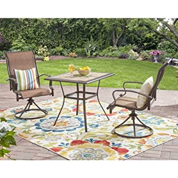 Amazon.com: Mainstays Wesley Creek 3-Piece Bistro Set with