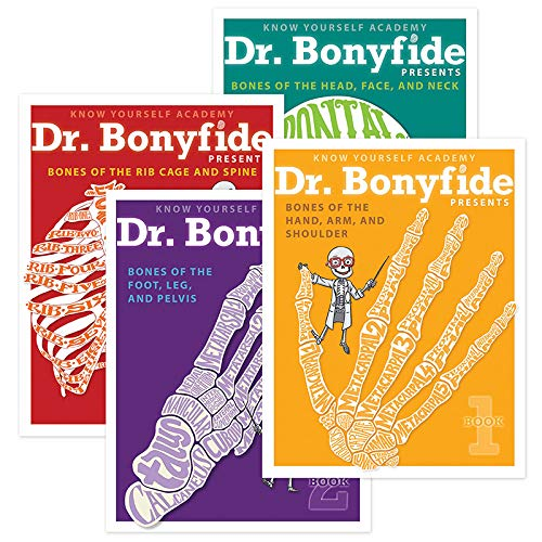 Know Yourself 206 Bones of The Human Body 4 Book Set Dr Bonyfide