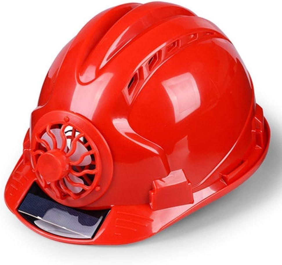 GUUO Casco de Trabajo de Seguridad, Casco de Trabajador de la construcción, Casco de Ventilador Solar, Casco Industrial, Casco de Trabajo Casco de Trabajo