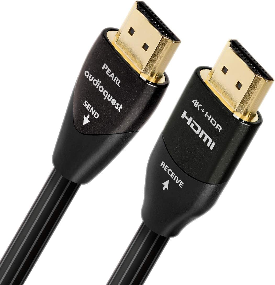 AudioQuestパール10 M (32.8 Ft。)ブラック/ホワイトアクティブなHDMIデジタルオーディオ/ビデオケーブルwithイーサネット接続
