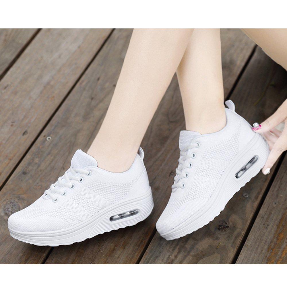 Zapatos Deporte Mujer Zapatillas Deportivas Moda Sandalias de Verano Mocasines de Plataforma Casuales Zapatillas de Lona para Mujer Cu/ña
