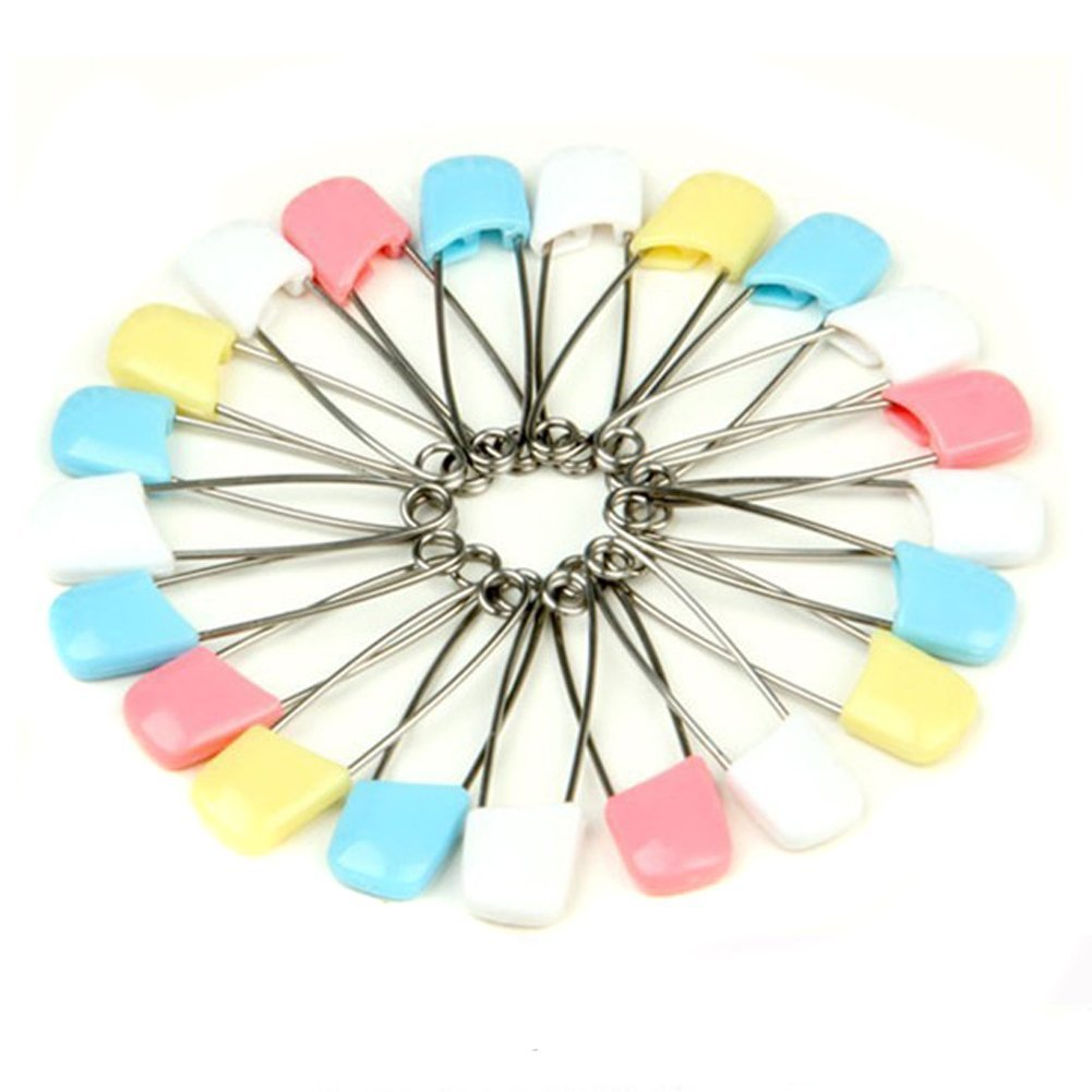 UZZO Cloth Diaper Pins Stainless Steel Traditional Safety Pin (100PCS)