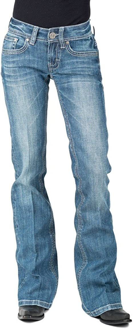 Stetson 818 Womens Blue Cotton Blend X Pieced Jeans