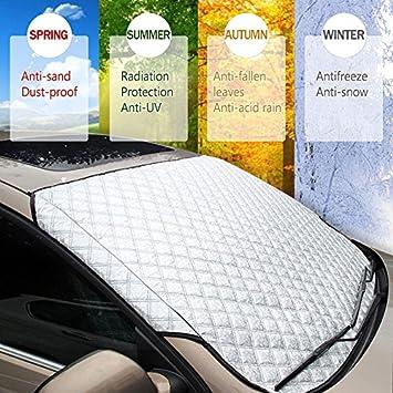 polvo sol resistente a las heladas ajuste perfecto para coches SUV UV heladas WeFine Protector de parabrisas para coche nieve resistente al agua en todo tipo de clima.