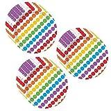 polka dot party supplies - Rainbow Birthday Dessert Plates - 24 Pieces