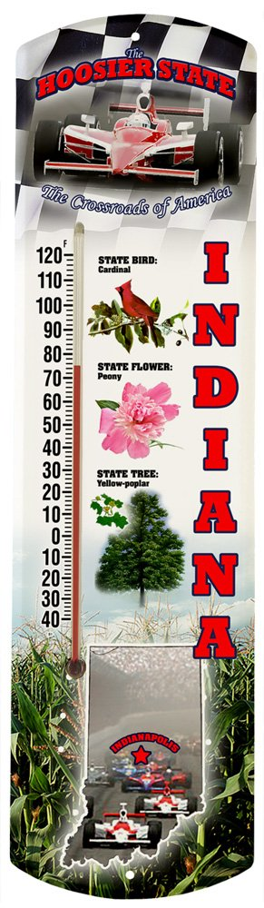 Heritage America by MORCO 375IN Indiana Outdoor or Indoor Thermometer, 20-Inch