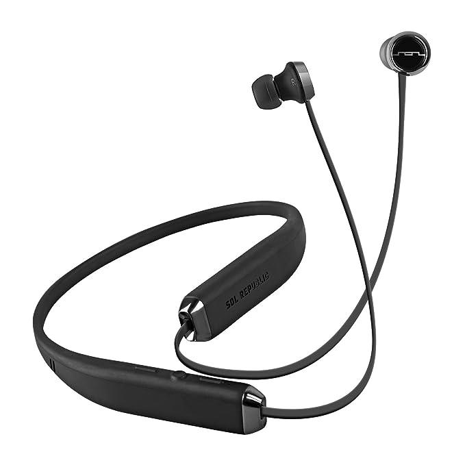 f121586ab76 Amazon.com: SOL REPUBLIC Shadow Wireless In-Ear Headphones, Waterproof,  Rich Bass, Earphones with Built-in Mic & Music Controls - Black/Silver  (Certified ...