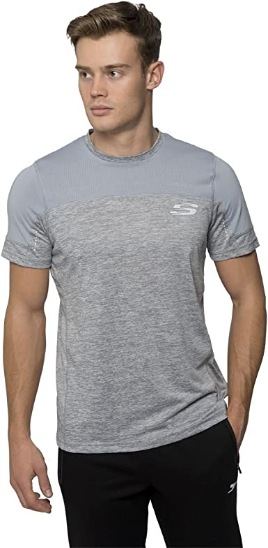 Skechers Herren T Shirt Gr. Large, schwarz: Skechers: Amazon aLi19