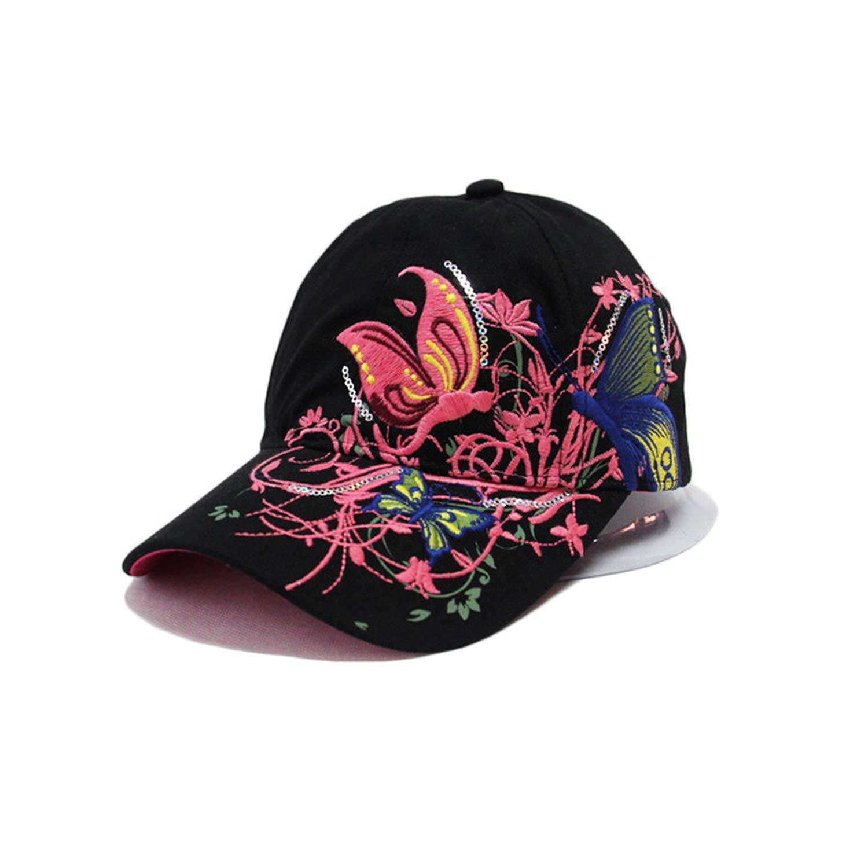 Butterfly Embroidery Cap Summer Lady Baseball Cap Outdoor Hip-Hop Sun Hat Duck Tongue Summer Visor