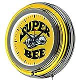 Trademark Gameroom Super Bee Dodge Chrome Double Rung Neon Clock