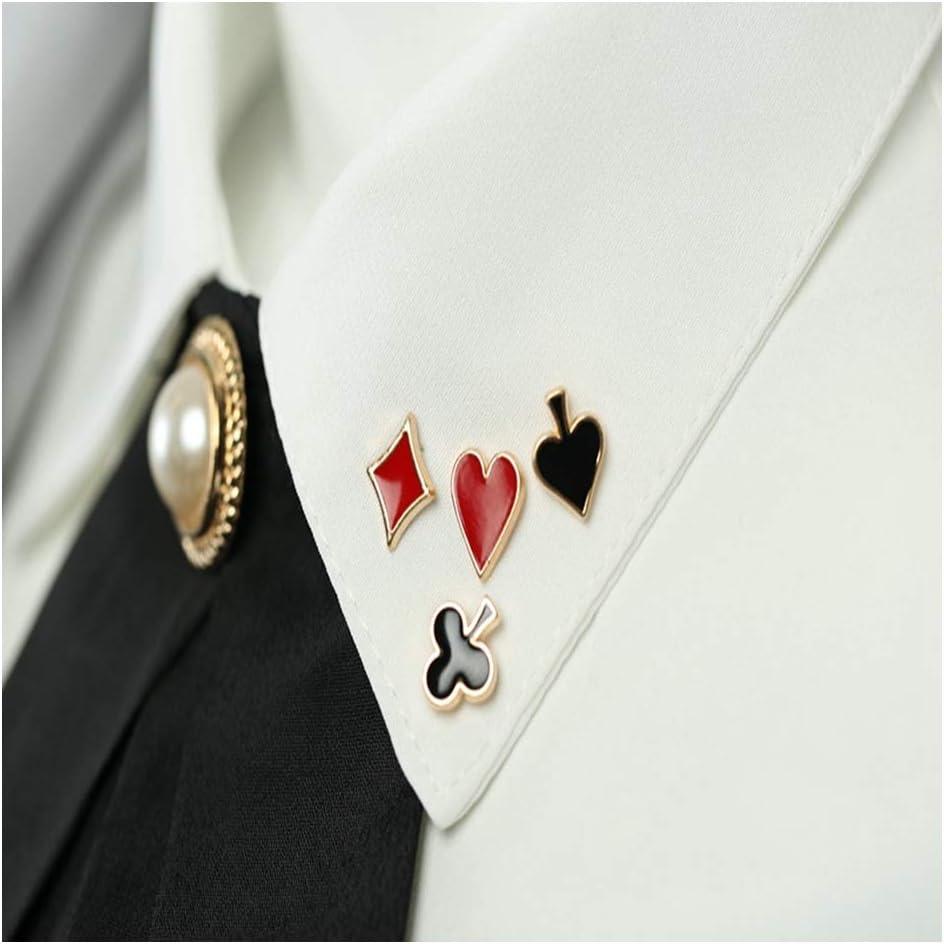 JIWEIER Pequeño Populares Poker Gemelos alfileres y broches for Hombres de Las Mujeres de aleación de Zinc Broche Broche de Insignias Accesorios Camisa de Cuello broches para Las Mujeres: Amazon.es: Hogar