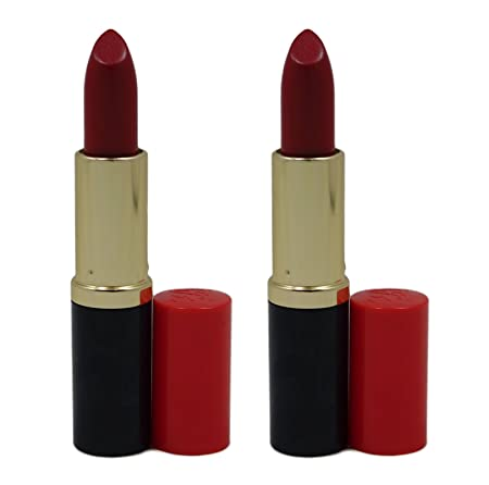 Estee Lauder Pure Color Long Lasting Lipstick – 73 Scarlet Siren Creme .13 oz 3.8 g Each, Lot of 2