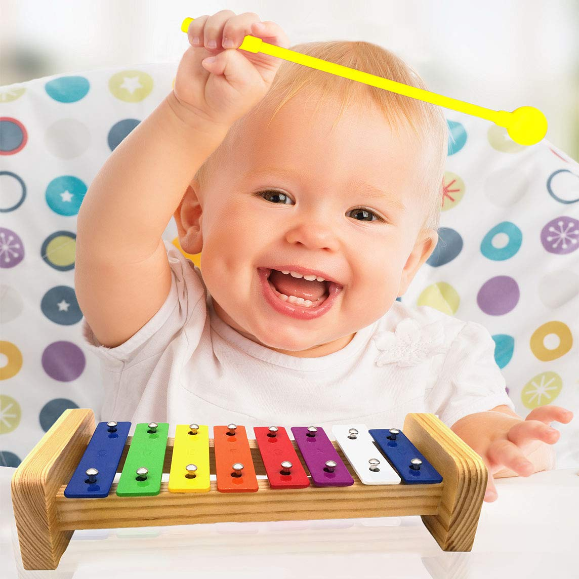 XIYITOY Xylophone for kids,The First Birthday Gift for kids 1-3 Year Old Girl,Boys,Musical Kid Toy for Kids for 4-8 Year Old Boys Gift,Whith Two Child-Safe Mallets for 2-6 Year Old for Making Fun Musi by XIYITOY (Image #3)
