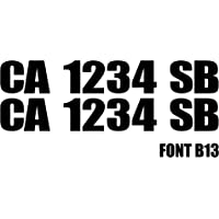 """3"""" by 20"""" Pair of Registration Number Decals 