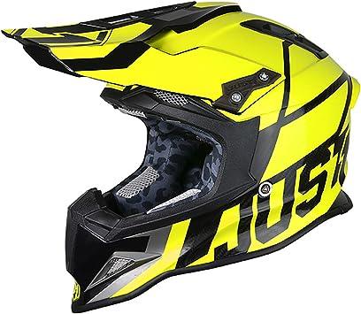 Flat Black Trans Carbon, Unit Blue Pink-Large JUST1 J12 Unit Carbon Fiber Shell Off-Road Adult Motorcross Motorcycle helmet