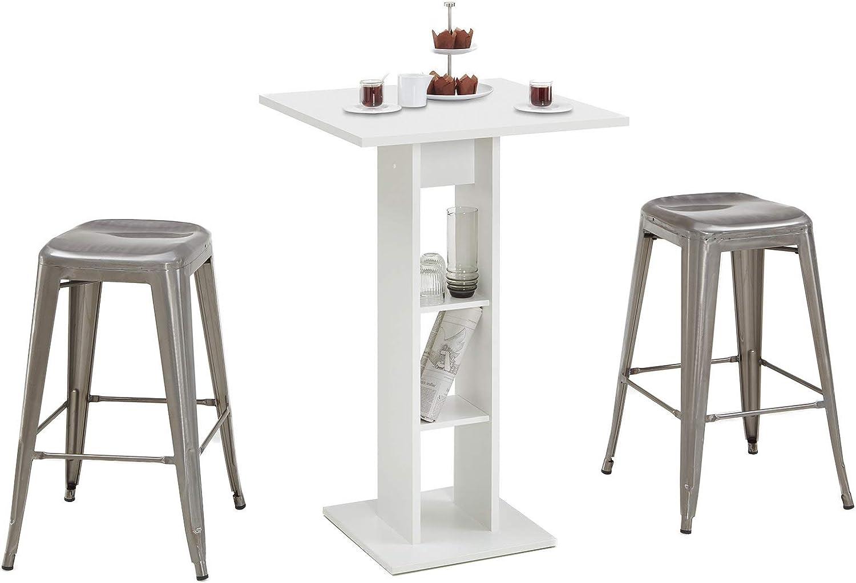 m/öbelando Bartisch Tresentisch K/üchentisch Stehtisch Loungetisch Tisch Yvette I Wei/ß