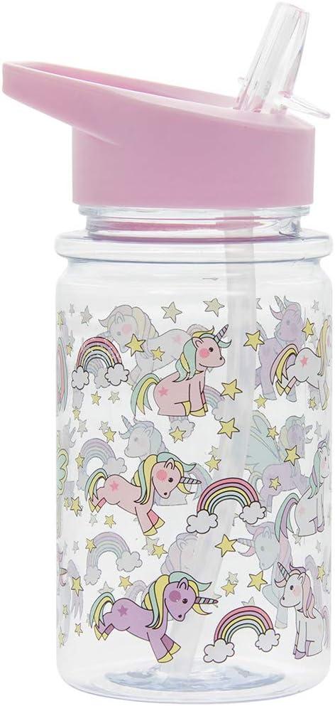 Lesser & Pavey Little Stars Unicorn-Botella para Beber, Height 17cm