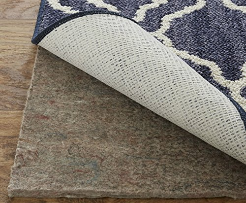 (Mohawk Home Dual Surface Felt and Latex Non Slip Rug Pad, 4'x6', 1/4 Inch Thick, Safe for Hardwood Floors and All Surfaces)
