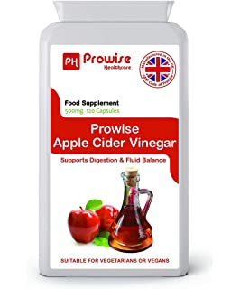 PROWISE APPLE CIDER VINEGAR 500mg 120 Cápsulas, fabricado en el Reino Unido a código de