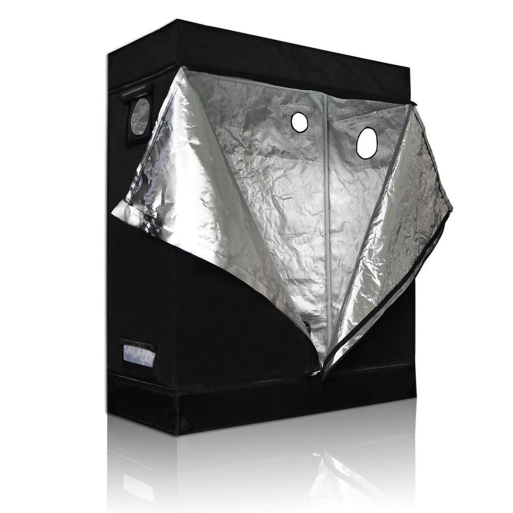 48''x24''x60'' Reflective Mylar w/ Metal Corner Grow Tent Hydroponics Plant Room 4x2x5FT Waterproof Diamond Mylar