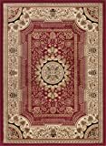 Universal Rugs 104670 Red 9x12 Area Rug, 8-Feet 9-Inch by 12-Feet 3-Inch