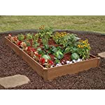 "Greenland Gardener Raised Bed Garden Kit - 42"" x 84"" x 8"" 5 Raised garden bed kit Makes garening easy Made from recycled materials"
