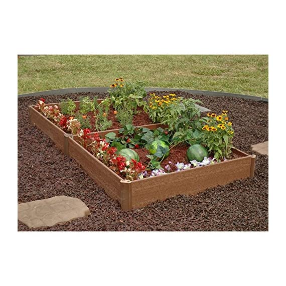 "Greenland Gardener Raised Bed Garden Kit - 42"" x 84"" x 8"" 2 Raised garden bed kit Makes garening easy Made from recycled materials"