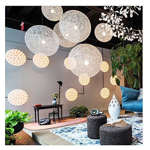 Globe Pendant Light White in US - 5