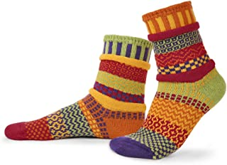 product image for Solmate Socks - Mismatched Crew Socks; Made in USA; Daffodil Large
