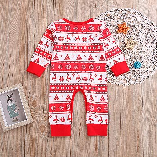 ❤ Tefamore Jumpsuit Bebé Unisexo Bebé Outfits Recién Nacido Navidad Impresión Mameluco Otoño Ropa Manga Larga Pijamas Monos 0-24 Meses: Amazon.es: Ropa y ...