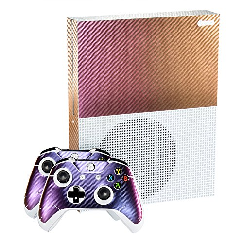 eXtremeRate-Purple-and-Gold-Chameleon-Full-Faceplates-Personalized-Skin-Decal-Stickers-Covers-for-Microsoft-Xbox-One-S-Console-Controller-Kinect
