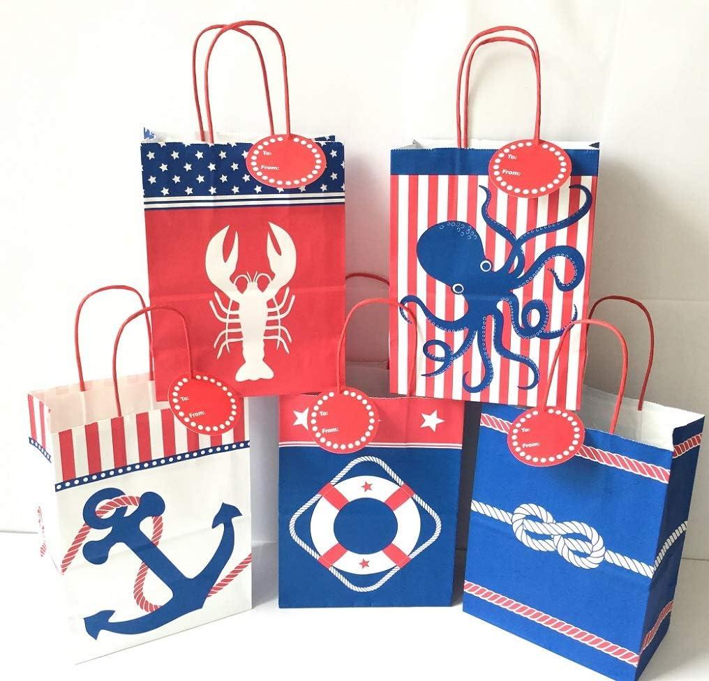 Nautical tote gift bag
