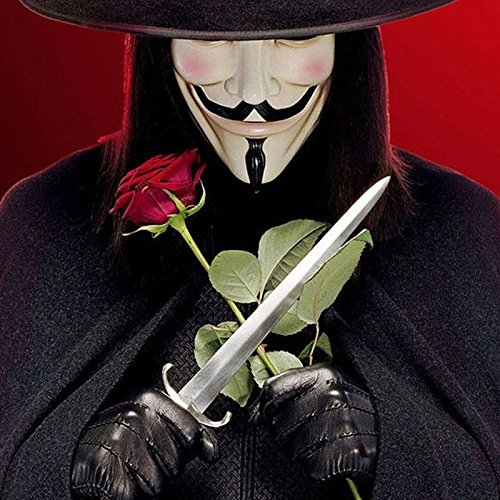 Amazon.com: Cacys-Store - 5pcs Party Cosplay mask V for Vendetta Anonymous Guy Fawkes Fancy Dress Adult Costume Accessory macka mascaras halloween masque: ...
