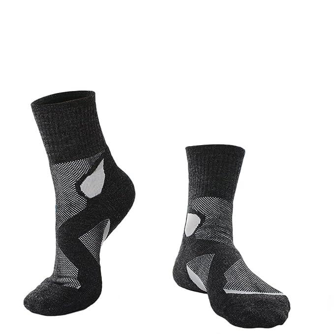 3 pares de lana para hombre + fibra de bambú deportes Calcetines térmicos gruesos High Tog