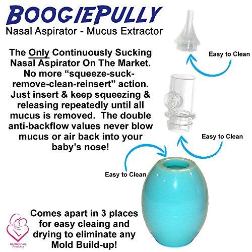 BoogiePully Aspirator Cleanable Continuous Squeezing